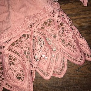 Rue21 Tops - Pink Lace Trim Crop Top